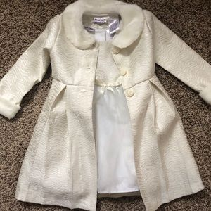 Toddler dress with matching jacket.